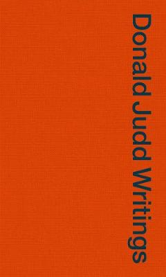 Donald Judd Writings by Flavin Judd