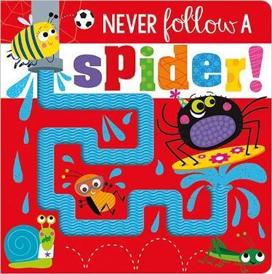 NEVER FOLLOW A SPIDER BB book