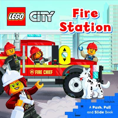 LEGO (R) City Fire Station: A Push, Pull and Slide Book book