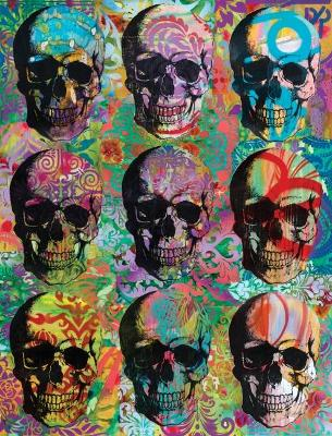 Dean Russo Skull Mosaic Journal by Dean Russo