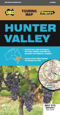 Hunter Valley Map 213 6th ed by UBD Gregory's