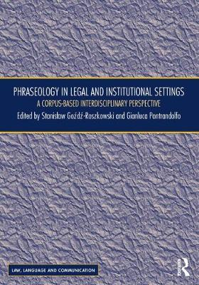 Phraseology in Legal and Institutional Settings book
