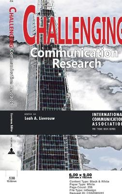 Challenging Communication Research by Leah A. Lievrouw
