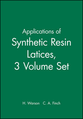 Applications of Synthetic Resin Latices by Henry Warson