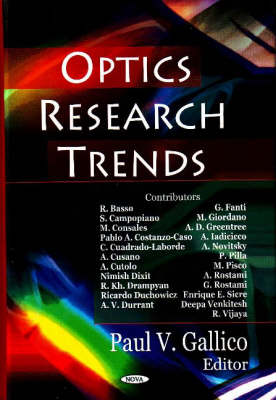 Optics Research Trends by Paul V. Gallico