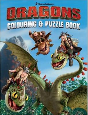 Dragons Colouring & Puzzle Book by Five Mile Press