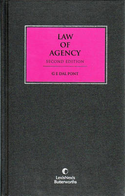 Law of Agency by G. E. Dal Pont