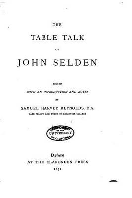 The Table Talk of John Selden by John Selden