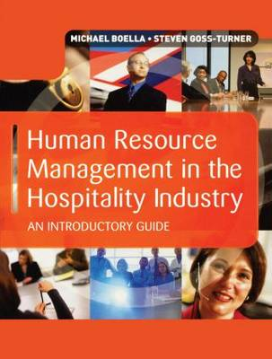 Human Resource Management in the Hospitality Industry book