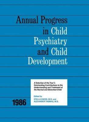 1986 Annual Progress In Child Psychiatry book