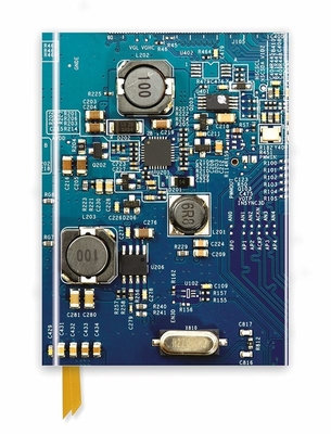 Circuit Board Blue (Foiled Journal) by Flame Tree Studio
