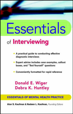 Essentials of Interviewing by Donald E. Wiger