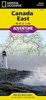 Canada East: Travel Maps International Adventure Map by National Geographic