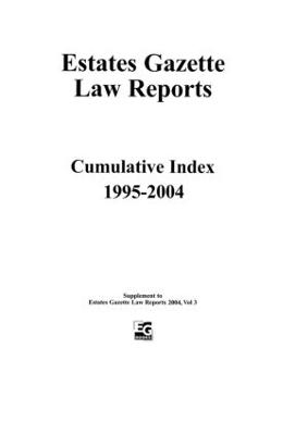 EGLR 2004 Cumulative Index by Barry Denyer-Green