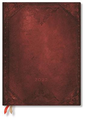 2022 Urban Glam Bold, Ultra, (Week at a Time) Diary: Hardcover, Horizontal Layout, 100 gsm, elastic closure book