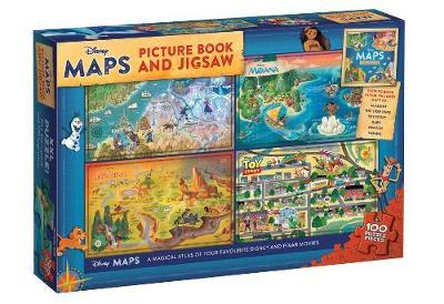 DISNEY MAPS PIC BK AND JIGSAW book