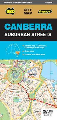 Canberra Suburban Streets Map 259 39th ed by UBD Gregory's
