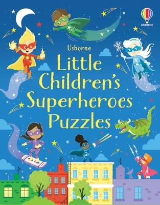 Little Children's Superheroes Puzzles book