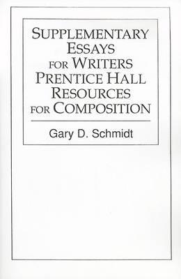 Supplimentary Essays Writer Ph Resc*Aod* by Professor Gary D Schmidt