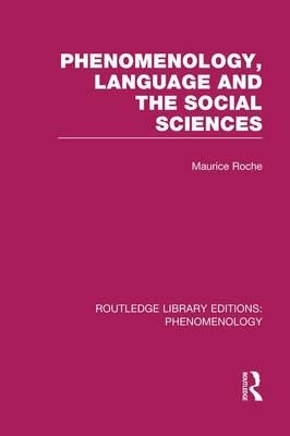 Phenomenology, Language and the Social Sciences by Maurice Roche