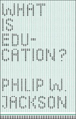 What is Education? book