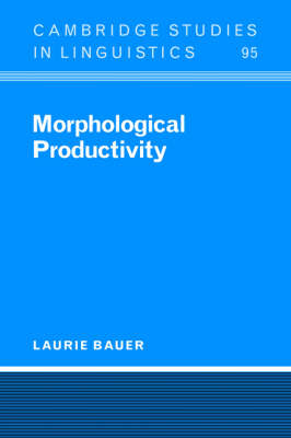 Morphological Productivity book