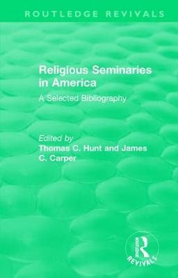Religious Seminaries in America (1989) book