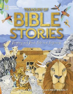 Treasury of Bible Stories: A mosaic of prophets, kings, families, and foes by National Geographic Kids
