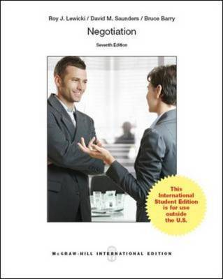 Negotiation (Int'l Ed) by Roy J. Lewicki