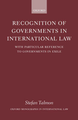 Recognition of Governments in International Law book