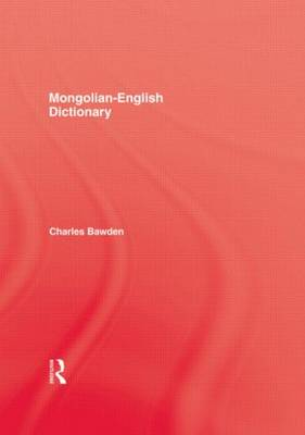 Mongolian-English Dictionary by Bawden