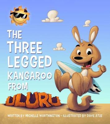 Three Legged Kangaroo From Uluru by Michelle Worthington