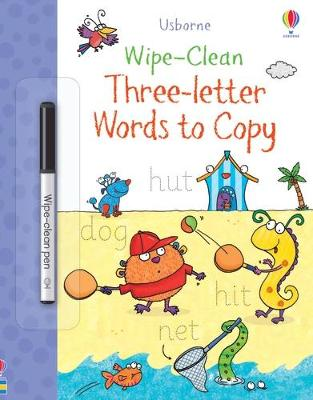 Wipe-Clean Three-Letter Words to Copy by Jane Bingham