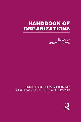 Handbook of Organizations book