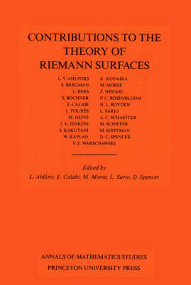 Contributions to the Theory of Riemann Surfaces. (AM-30), Volume 30 by Marston Morse