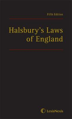 Halsbury's Laws of England by Lord Chancellor Mackay of Clashfern