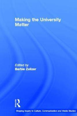 Making the University Matter book