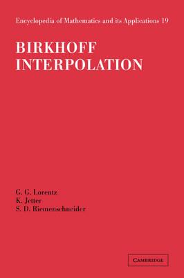 Birkhoff Interpolation by G. G. Lorentz