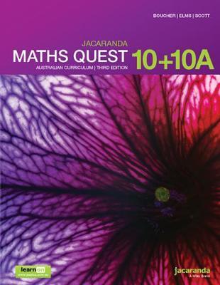 Jacaranda Maths Quest 10+10a Australian Curriculum3e LearnON & Print by Kylie Boucher