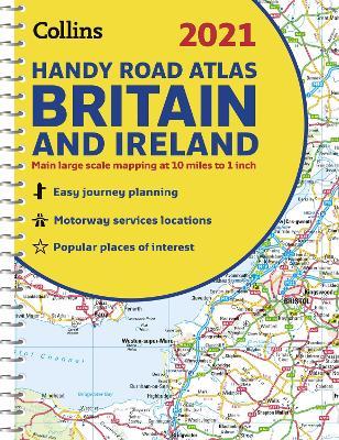 GB Road Atlas Britain 2021 Handy: A5 Spiral (Collins Road Atlas) by Collins Maps