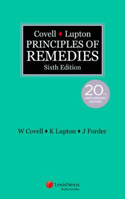 Covell & Lupton Principles of Remedies by W Covell