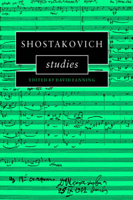 Shostakovich Studies by David Fanning