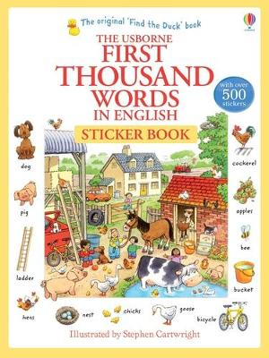 First 1000 Words in English Sticker Book by Heather Amery
