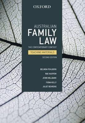 Australian Family Law by Belinda Fehlberg