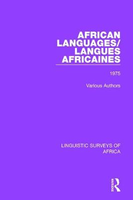 African Languages/Langues Africaines by Various Authors