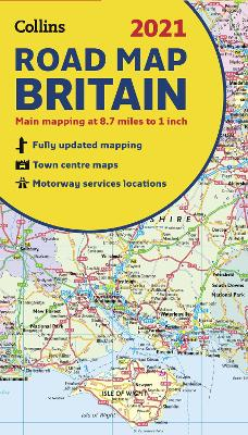 GB Map of Britain 2021: Folded road map (Collins Road Atlas) by Collins Maps