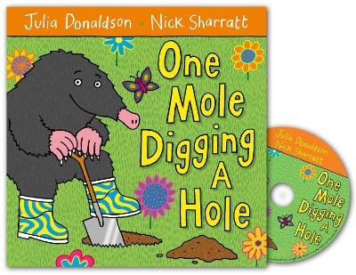 One Mole Digging A Hole Book and CD Pack by Julia Donaldson