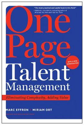 One Page Talent Management, with a New Introduction by Marc Effron