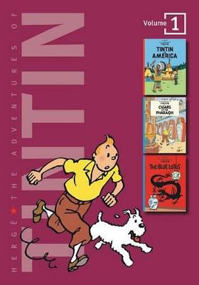 Adventures of Tintin 1 Complete Adventures in 1 Volume WITH Cigars of the Pharaoh AND The Blue Lotus by Herge