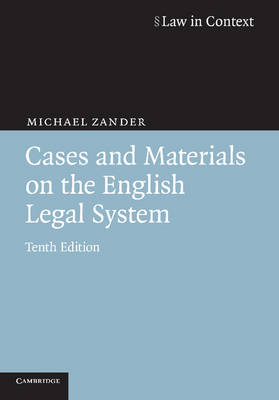Cases and Materials on the English Legal System book